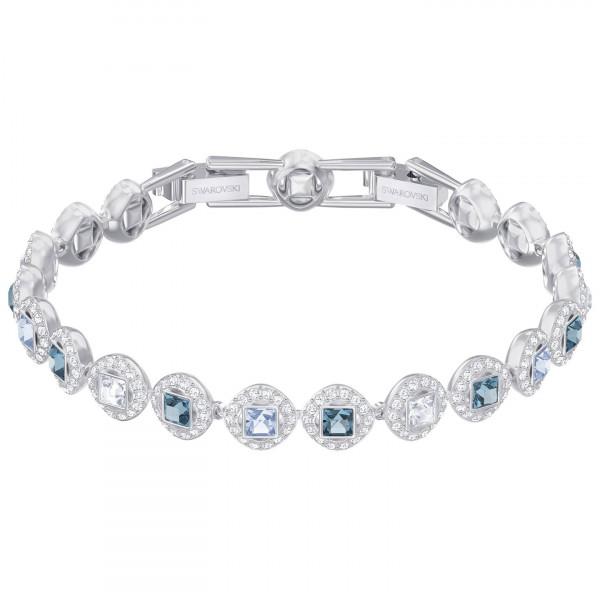SWAROVSKI Angelic Square Bracelet, Blue, Rhodium plating 5289514