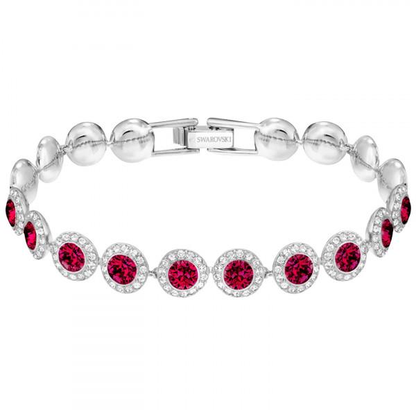 SWAROVSKI Angelic Bracelet, Medium, Red, Rhodium plating 5446006