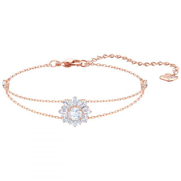 SWAROVSKI Sunshine Bracelet, White, Rose gold plating 5451357