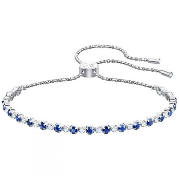 SWAROVSKI Subtle Bracelet, Blue, Rhodium plating 5465383