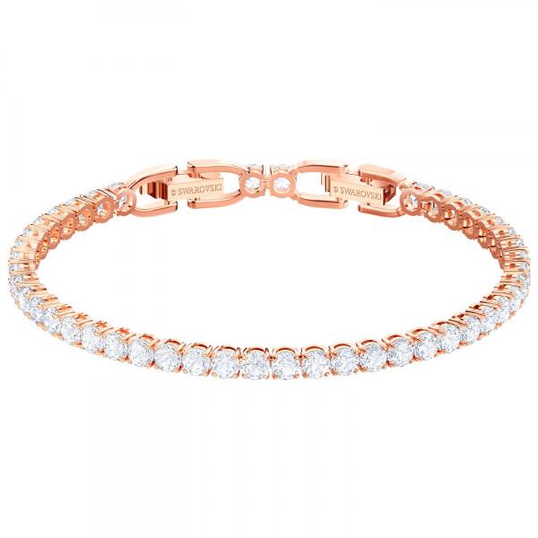 SWAROVSKI Tennis Bracelet, White, Rose gold plating 5464948