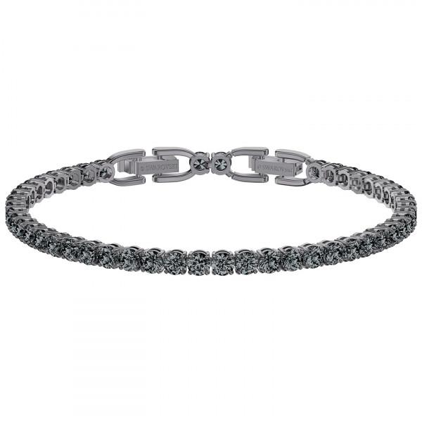 SWAROVSKI Tennis Deluxe Bracelet, Gray, Ruthenium plated 5514655