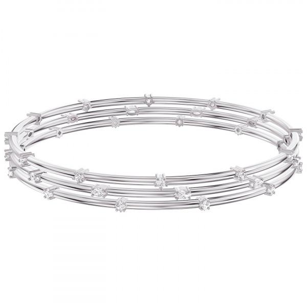 SWAROVSKI Moonsun Bangle, White, Rhodium plated 5524267