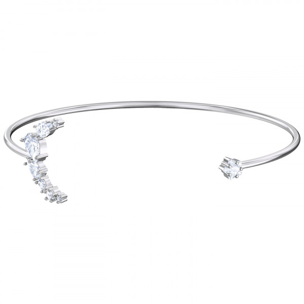 SWAROVSKI Moonsun Cuff, White, Rhodium plated 5508443