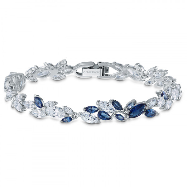 SWAROVSKI Louison Bracelet, Blue, Rhodium plated 5536548