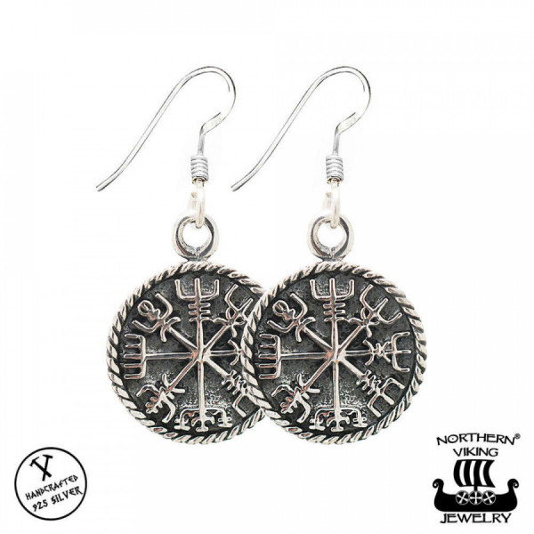 Northern Viking Jewelry NVJKK030 Vegvisir korvakorut