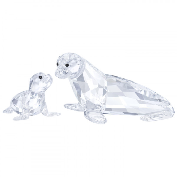 SWAROVSKI kristalliesine Sea Lion Mother with Baby 5275796