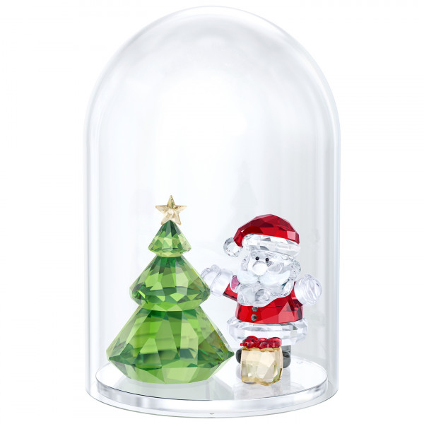 SWAROVSKI Bell Jar - Christmas Tree & Santa 5403170
