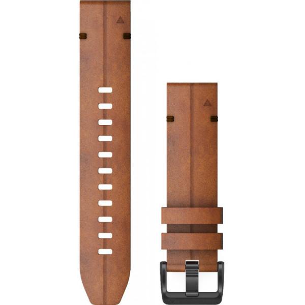 GARMIN Fenix 6 Quickfit 22mm ruskea nahkaranneke 010-12863-05