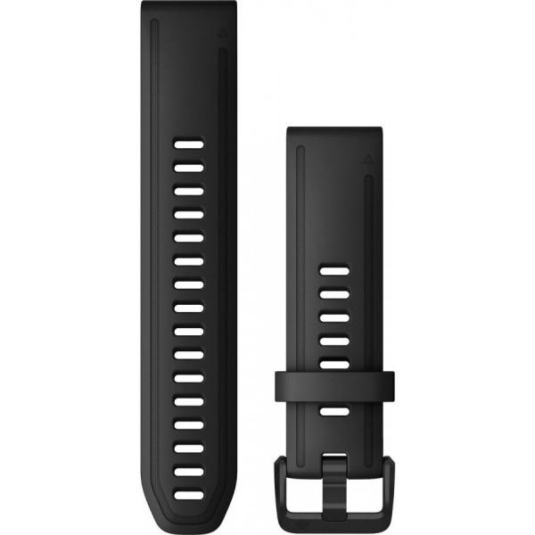 GARMIN Fenix 6S Quickfit 20mm musta silikoniranneke 010-12867-00