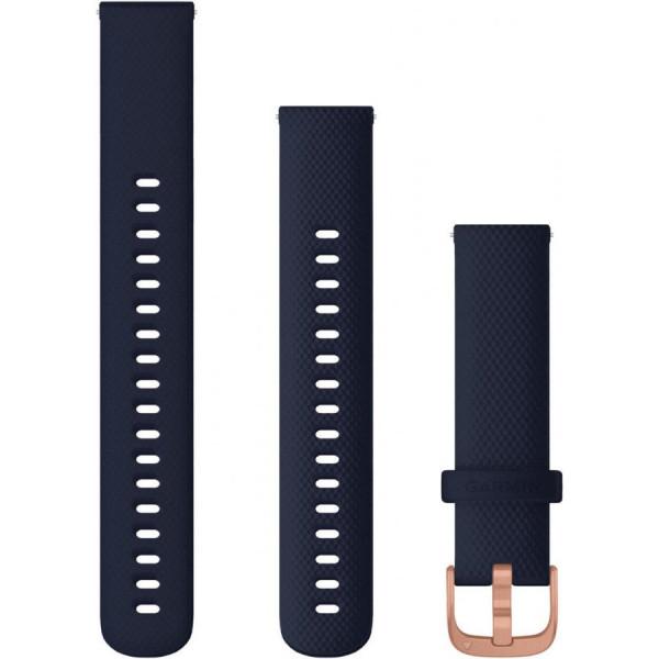 GARMIN tummansininen Quick release -silikoniranneke 18mm 010-12924-33