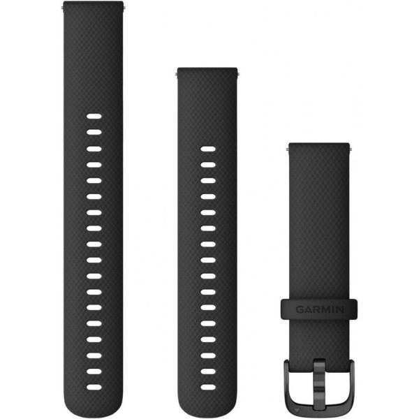 GARMIN Vivoactive mustaQuick release silikoniranneke 18mm 010-12932-01