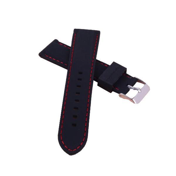 KARU Silikoniranneke Musta 18-24mm (Tikattu)