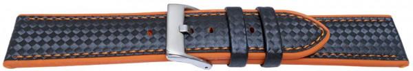 PYRY musta silikoniranneke oranssit tikkaukset 20-24mm