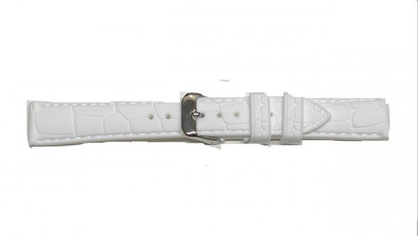 PYRY valkoinen silikoniranneke krokokuvio 18-24mm