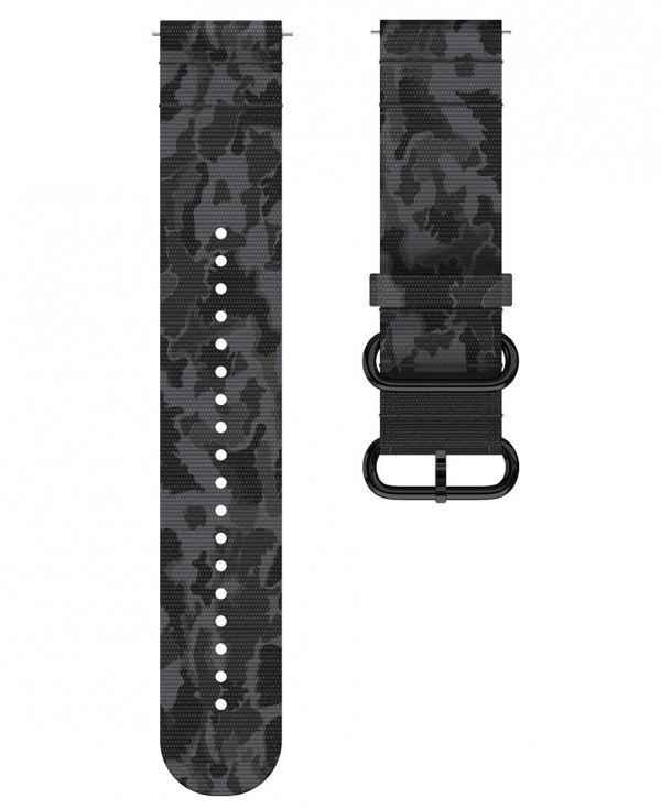 POLAR Grit X tundran musta tekstiiliranneke 22mm 91082600
