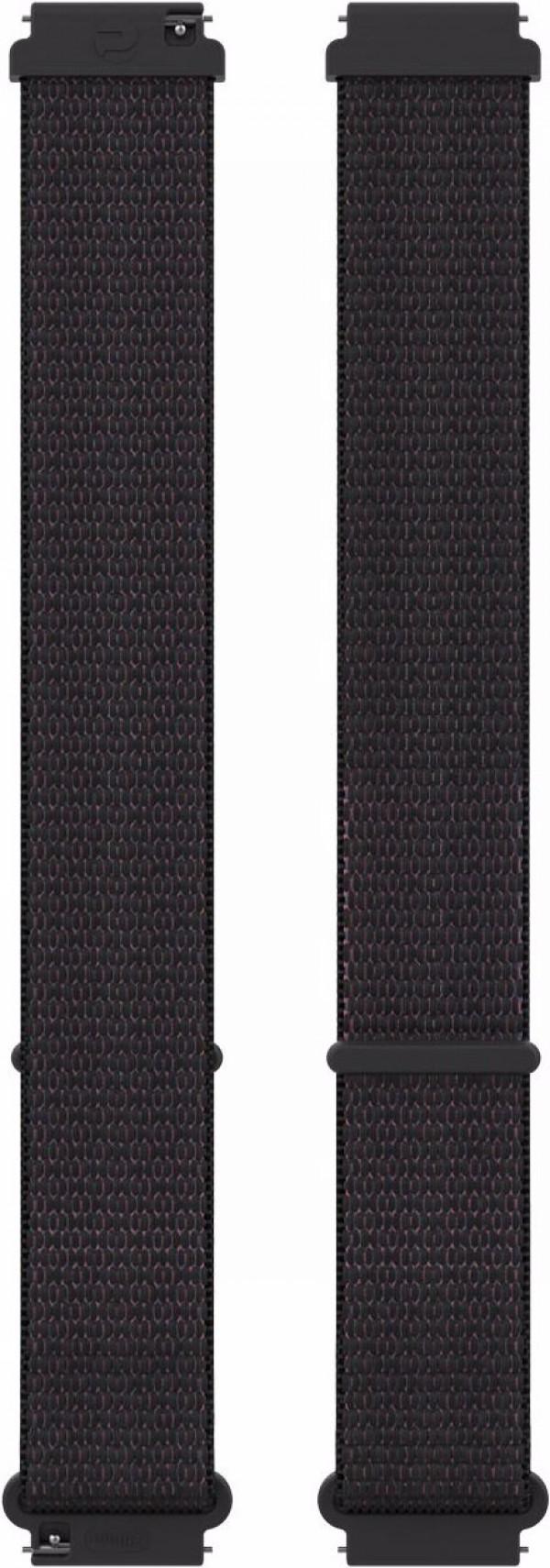 POLAR Ignite ja Unite nailonranneke 20 mm Black M-L Hook&Loop 91081807