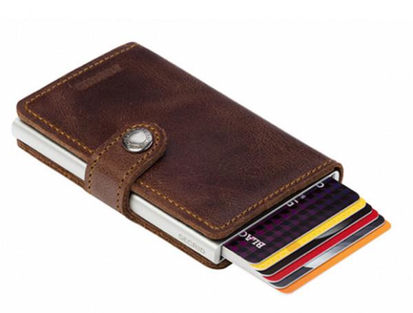 SECRID Miniwallet Vintage Brown lompakko