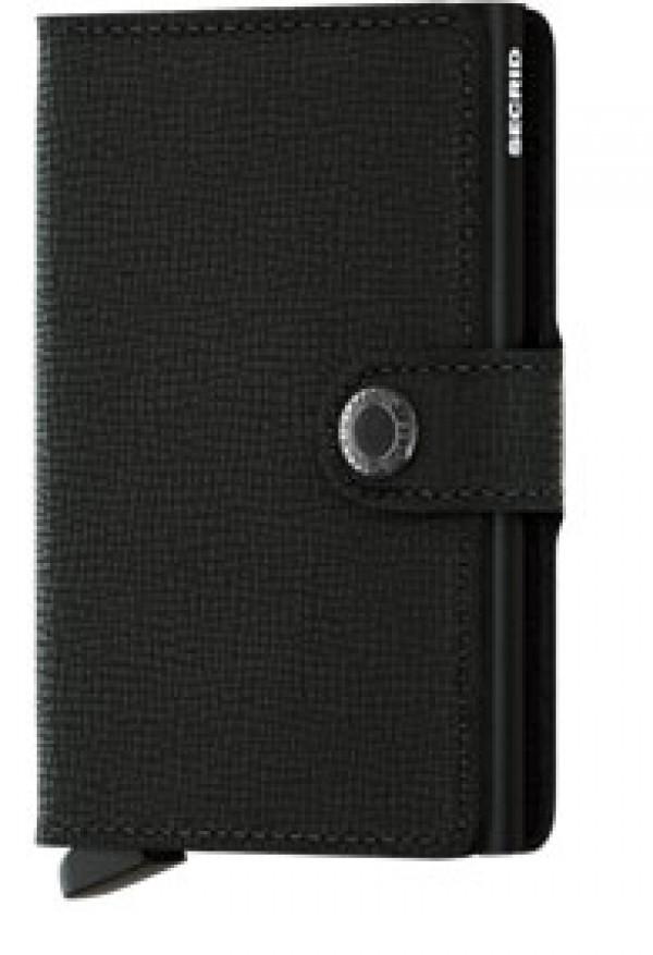 SECRID Miniwallet Crisple Black lompakko
