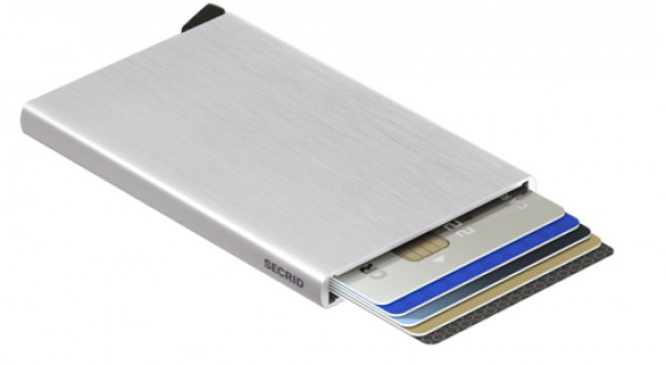 SECRID Cardprotector Silver Brushed lompakko