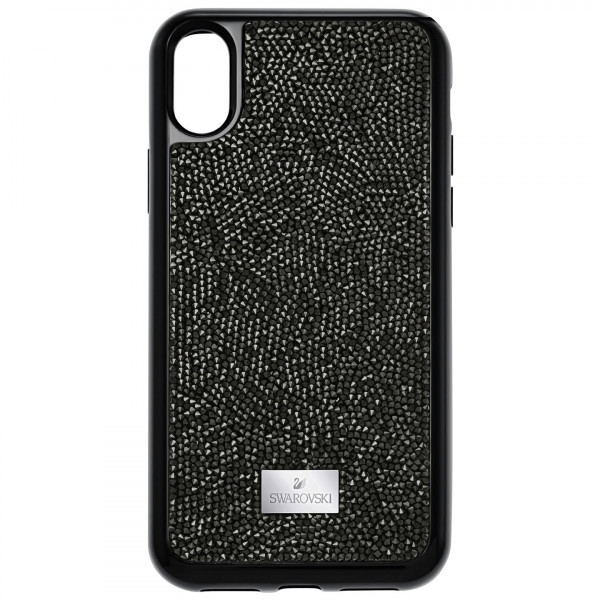 SWAROVSKI Glam Rock Smartphone Case with integrated Bumper, iPhone® X, Black 5392050