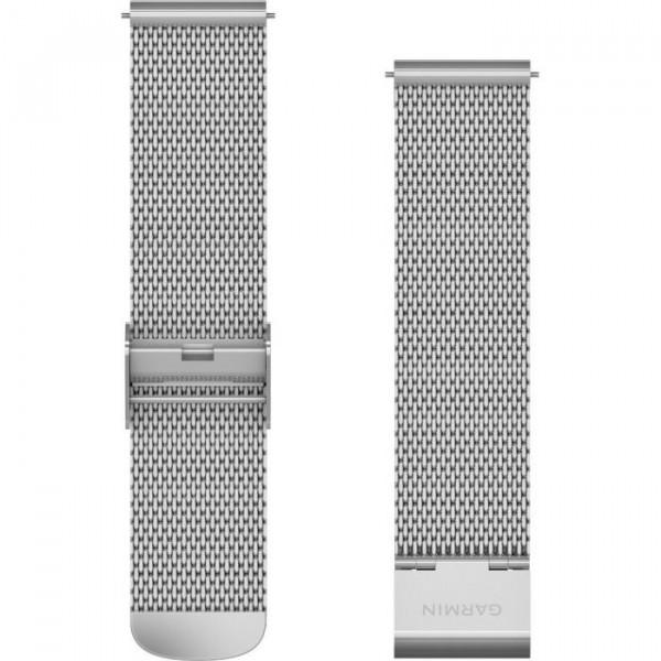 GARMIN hopeanvärinen Quick release 20mm mesh-ranneke 010-12924-23